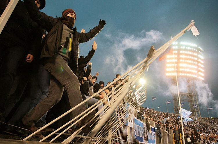 Фанаты Зенита отпраздновали победу любимой команды